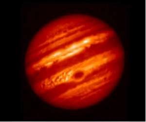 Jupiter im IR, gesehen vom COMICS Spektrometer auf dem Subaru Teleskop